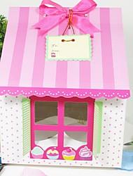 Cute House Shaped Cake Box (Set of 12)