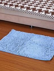 Elaine água fibra tapete antiderrapante absorção (50 * 80 centímetros, azul)