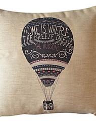 voando algodão / linho fronha decorativos para casa
