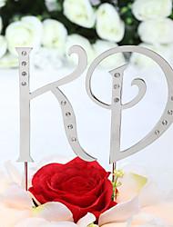 Cake Topper Non-personalized Monogram Birthday / Wedding / Anniversary / Bridal Shower / Quinceañera & Sweet Sixteen Rhinestone Silver