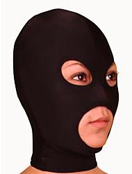 Maske Ninja Zentai Kostüme Cosplay Kostüme Schwarz einfarbig Maske Lycra Unisex Halloween / Weihnachten