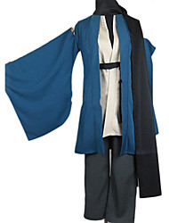 Inspired by Nurarihyon's Grandson Kubinashi Anime Cosplay Costumes Cosplay Suits / Kimono Solid Blue Long SleeveCoat / Kimono Coat /