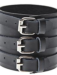 style punk bracelet en cuir noir