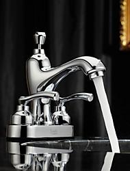 Sprinkle® par LightInTheBox - fini chrome centerset mélangeurs en laiton robinet d'évier salle de bains