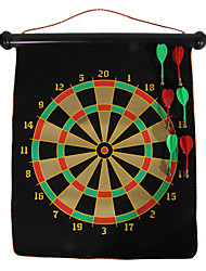 "12"" Black Magnet Roll-up Two-sided Dart Board and Bullseye Game with 6PCS Plastic Magnetic Darts"