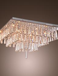 POUGHKEEPSIE - Lustre Cristal - 16 slots à ampoule