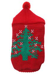 Gatos / Perros Suéteres Rojo Invierno Navidad Navidad