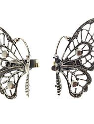 Papillon alliage forme indépendante Placage Anneaux double