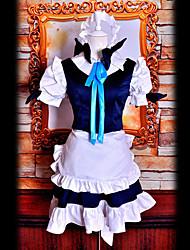 traje cosplay inspirado touhuo projeto Sakuya Izayoi