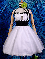 Inspired by Vocaloid Gumi Video Game Cosplay Costumes Cosplay Suits / Dresses Patchwork White Sleeveless Dress / Headpiece