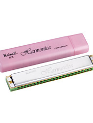 Kaine - (K2420) Tremolo Harmonica C key/24 Holes/24 Tones with Pink Box