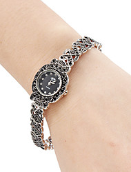 Women's Fashion Watch Bracelet Watch Japanese Quartz Band Vintage Black Silver