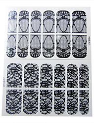 24PCS 2D Full-cover Transparent Lace Nail Stickers