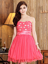 Women's Solid Ball Gown Dress , Strapless