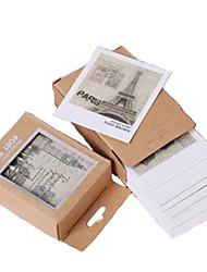 famoso cenário mundial do vintage mini-cartões postais (40 pcs)