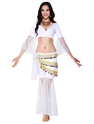 Performance Dancewear Crystal Cotton with Coins Belly Dance Outfits For Ladies More Colors