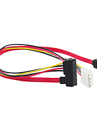 SATA 7 +15 pin al cable SATA 7pin y 4 pines (15 cm)