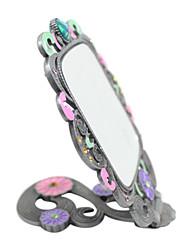 Top Espelho Maquiagem Grau bonito cravejado de strass Aleatório Enviar