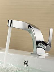 bestreuen ® von lightinthebox - einzigen Handgriff aus massivem Messing verchromt Centerset Waschbecken Wasserhahn