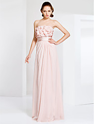 TS Couture® Prom / Formal Evening / Military Ball Dress - Elegant Plus Size / Petite Sheath / Column Strapless Floor-length Chiffon withRuffles /