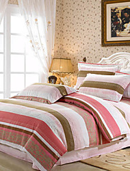 4-Piece Colorful Stripe Duvet Cover Set