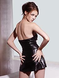 Roupa de couro das mulheres sexy slim Backless (Tamanho Fit: M-XL)