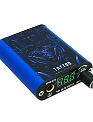 Blu Mini Power Supply Tattoo con cavo clip e pedale