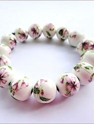 Pulseira Flor Vintage cerâmica (Diâmetro: 12cm)