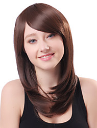 Capless Long Brown Wavy Heat-resistant Fiber Wigs