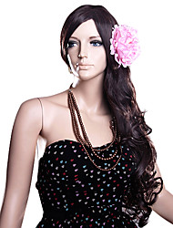 Capless Long Dark Brown Wavy High Quality Synthetic Hair Wigs