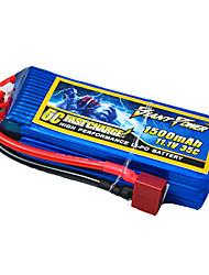 1500mAh 11.1V/3S bateria Lipo 35C para o modelo de RC