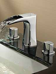 polvilhe ® por LightInTheBox - duas alças generalizada sólida bronze banheiro torneira da pia-acabamento cromado