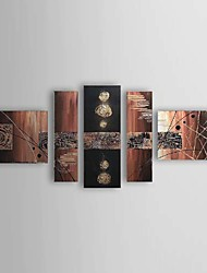 Hand Painted Oil Painting Abstract Set of 5 1211-AB0299