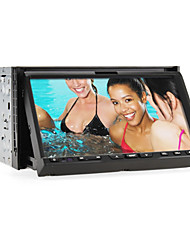 2 Din 7-inch TFT Screen In-Dash Car DVD Player With Navigation-Ready GPS,Bluetooth,iPod-Input,RDS,ISDB-T