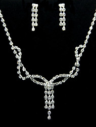 High Quality Alloy With Rhinestone Women's Jewelry Set Including Necklace,Earrings