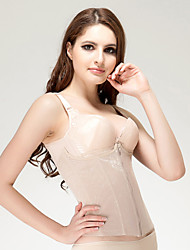Chinlon with Embroidery Front Zipper Closure Shapewear Sexy Lingerie Shaper