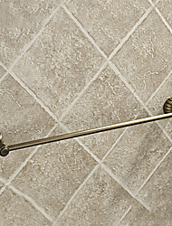 "Towel Bar Antique Brass Wall Mounted 583 x 70 x 50mm (23 x 2.8 x 2"") Brass Antique"
