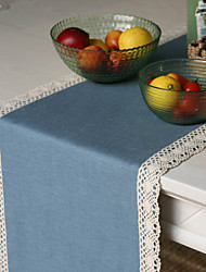 Linen Rayon Table Runner In Different Solid Color