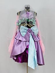geinspireerd door Vocaloid Gumi Video Spel Cosplay Kostuums Cosplay Kostuums / Jurken Patchwork  Paars Lange mouw Top / Rok / Strik