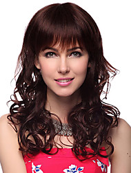 Capless Long Wavy 100% Human Hair Wig with 2 Colors Choice