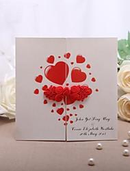 """Personalisiert Fensterfalz Hochzeits-Einladungen Einladungskarten-50 Stück / Set Formaler Stil Perlenpapier 5 1/3""""×5 1/3"""" (13.2*13.2cm)"""