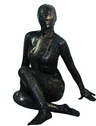 Nero Shiny Metallic completo del corpo Zentai