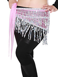 Dancewear Viscose with Tassels and Sequins Belly Dance Belt For Ladies More Colors