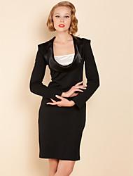 TS Simplicity Breites Revers High Shoulder Jersey Dress