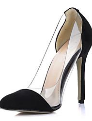 Women's Spring Summer Fall Winter Suede Dress Stiletto Heel Split Joint Multi-color