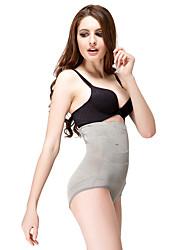 Chinlon / boyshorts algodão cintura alta briefs shaper lingerie sexy shaper