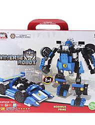 2-in-1 DIY Transforming Moveable Assembled Universe Car Robot Bricks (127pcs)