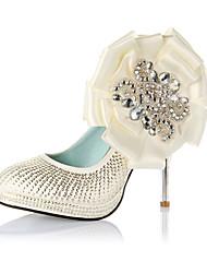 CARMINA - Geschlossene Schuhe Hochzeit Pfennigabsatz Satin Kunstleder