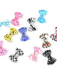 24PCS 3D Hälfte Abdeckung Resin Nail Decorations Cartoon Bow Tie