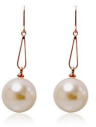 Charming Alloy Pearl Drop Earrings